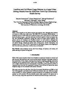 Results from the 2008 New York City Community Health Survey