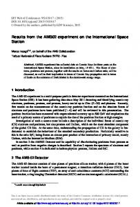 Results from the AMS02 experiment on the International Space Station