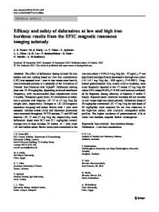 results from the EPIC magnetic resonance imaging ... - BioMedSearch