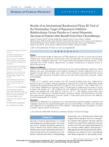 Results of an International Randomized Phase III Trial ...