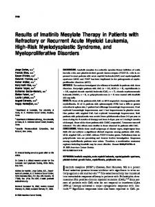 Results of imatinib mesylate therapy in patients ... - Wiley Online Library