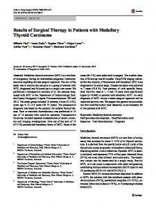Results of Surgical Therapy in Patients with Medullary ... - Springer Link