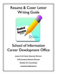 Resume & Cover Letter Writing Guide School of Information Career ...