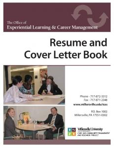 Resume and Cover Letter Book