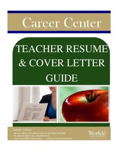 Resume And Cover Letter Guide For Teachers
