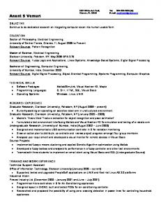 Resume - Department of Electrical Engineering and Computer ...
