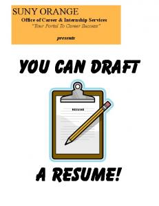 Resume Guidelines (PDF)