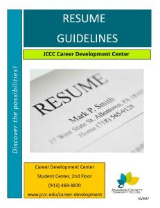 Resume Guidelines - PDF
