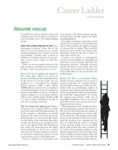 Resume Rescue - Tyler Search