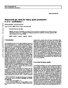 Resummed jet rates for heavy quark production in electron-positron ...