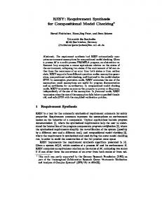 RESY: Requirement Synthesis for Compositional Model Checking*
