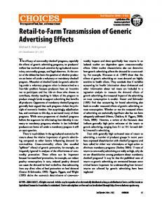 Retail-to-Farm Transmission of Generic Advertising Effects