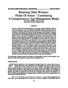 Retaining Older Workers: Fields Of Action ... - Clute Institute