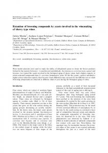 Retention of browning compounds by yeasts involved ... - Springer Link