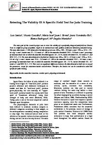 Retesting The Validity Of A Specific Field Test For