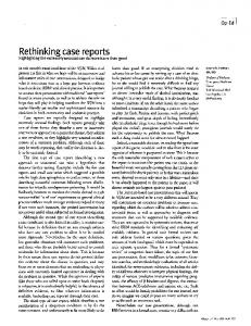 Rethinking case reports - PubMed Central Canada