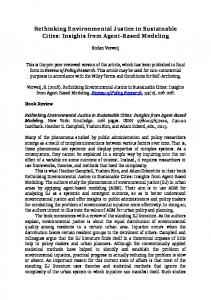 Rethinking Environmental Justice in Sustainable Cities - SSRN papers
