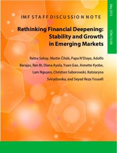 Rethinking Financial Deepening: Stability and Growth - IMF