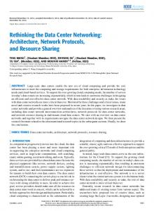 Rethinking the Data Center Networking: Architecture ... - IEEE Xplore