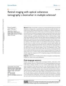 Retinal imaging with optical coherence tomography: a ...