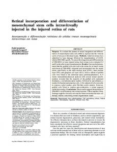 Retinal incorporation and differentiation of ... - Semantic Scholar