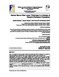 Retinal Nerve Fiber Layer Thickness in a Subset ... - Journal Repository