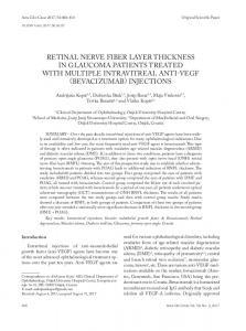 retinal nerve fiber layer thickness in glaucoma patients treated with