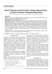 Retinal Thickness and Visual Acuity in Diabetic ... - Semantic Scholar
