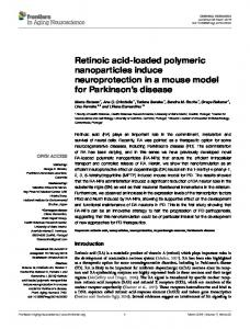 Retinoic acid-loaded polymeric nanoparticles