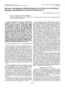 Retinoic Acid Regulates Both Expression of the Nerve Growth Factor ...