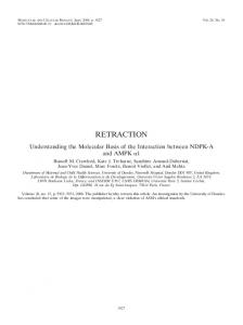 retraction - Molecular and Cellular Biology