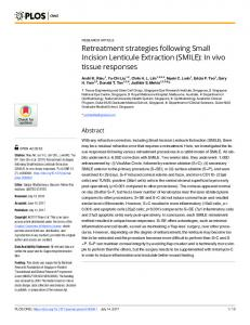 Retreatment strategies following Small Incision Lenticule ... - PLOS