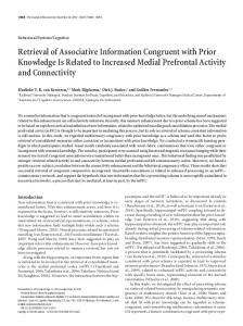 Retrieval of Associative Information Congruent with Prior Knowledge ...