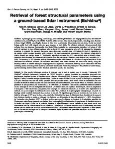 Retrieval of forest structural parameters using a ground-based lidar ...