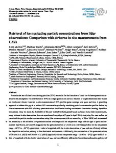 Retrieval of ice nucleating particle concentrations from lidar observations