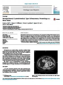 Retroperitoneal Gastrointestinal Type Schwannoma Presenting as a ...