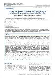 Retrospective subjective evaluation of aesthetic outcome ... - eJManager