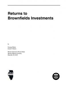 Returns to Brownfields Investments - Illinois Institute for Rural Affairs