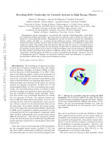 Revealing Bell's Nonlocality for Unstable Systems in High Energy ...