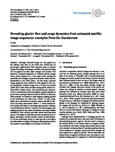 Revealing glacier flow and surge dynamics from ... - The Cryosphere