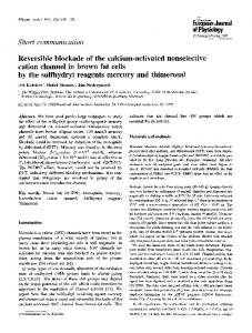 Reversible blockade of the calcium-activated nonselective cation ...