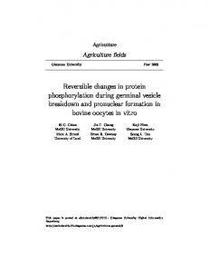 Reversible changes in protein phosphorylation ... - Semantic Scholar