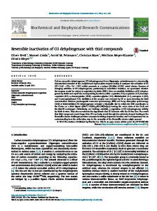 Reversible inactivation of CO dehydrogenase with