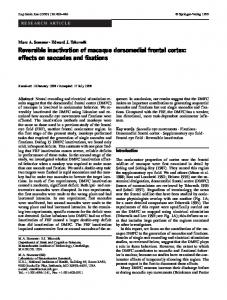 Reversible inactivation of macaque dorsomedial frontal ... - DukeSpace