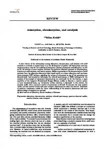REVIEW Adsorption, chemisorption, and catalysis - Springer Link