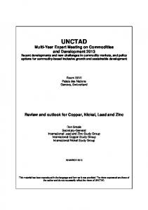 Review and outlook for Copper, Nickel, Lead and Zinc - unctad