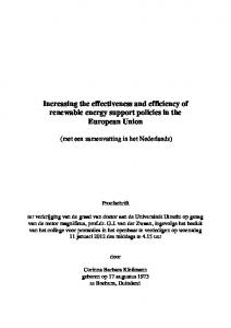 Review and perspectives of renewable energy policy in the European ...