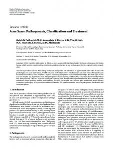 Review Article Acne Scars: Pathogenesis