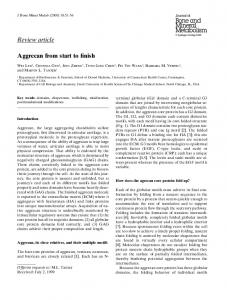 Review article Aggrecan from start to finish - CiteSeerX