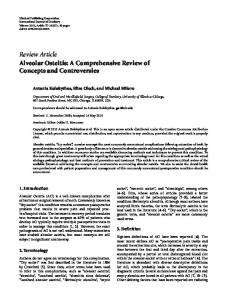 Review Article Alveolar Osteitis: A Comprehensive ... - ScienceOpen